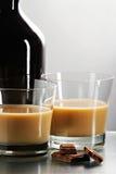Ancora vita con liquore in vetri Fotografie Stock Libere da Diritti
