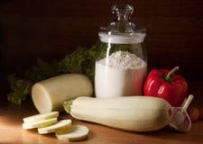 Ancora vita con lo zucchini Immagini Stock
