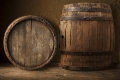 Ancora vita con un barile di birra Fotografia Stock Libera da Diritti