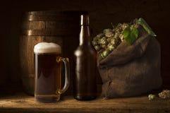 Ancora vita con un barile di birra Immagine Stock Libera da Diritti