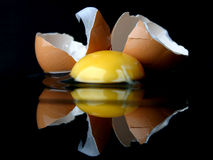 Ancora-vita con un uovo rotto III fotografia stock libera da diritti