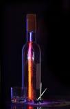 Ancora vita con una bottiglia Fotografie Stock