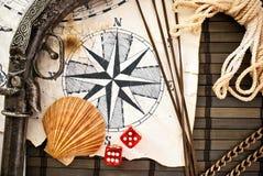 Ancora-vita del pirata. fotografia stock