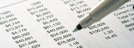 Ancora-vita del rendiconto finanziario Immagine Stock