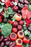 Ancora vita delle frutta e delle verdure Immagini Stock Libere da Diritti