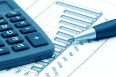 Ancora-vita di affari (azzurro modificato) Fotografia Stock Libera da Diritti