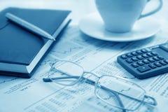 Ancora-vita di affari di mattina (azzurro modificato) Fotografia Stock