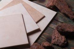 Ancora vita, mattonelle di ceramica Fotografia Stock