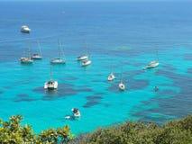 Ancorage i Korsika Arkivfoto