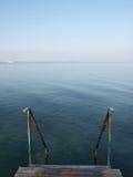 Ancoraggio alla polizia del lago in Italia Fotografia Stock