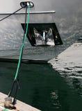 Ancoraggio a bordo dell'yacht Immagini Stock