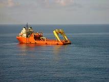 Ancoraggio che tratta barca Fotografie Stock