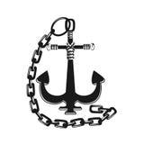 Ancoraggio con la catena royalty illustrazione gratis