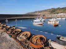 Ancore lungo il molo a Lyme Regis Fotografia Stock Libera da Diritti