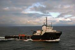 Ancori la manipolazione di semi submergible in Mare del Nord Immagine Stock Libera da Diritti
