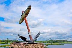 Ancre de bateau de navigation d'océan à partir de 1650 Photographie stock