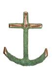 Ancre de cuivre d'isolement de bateau image libre de droits