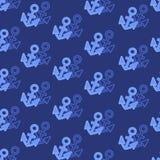 Ancre flottante sur un fond bleu-foncé illustration de vecteur