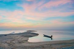 ancre Long-coupée la queue de fonte de bateau Images libres de droits