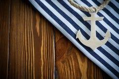Ancre nautique en bois Images libres de droits