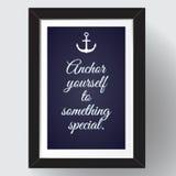 Ancre vous-même à quelque chose spéciale Photo stock