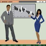 Ancres d'actualités de finances de TV Image libre de droits