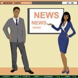Ancres d'actualités de TV Photo libre de droits