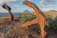 Ancres et montagne photo libre de droits