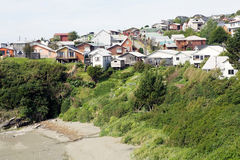 Ancud, ilha de Chiloe, o Chile imagem de stock
