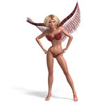 And Beautiful Angel With Wings Royalty Free Stock Photos