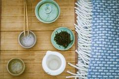 Anda av grönt te Arkivfoto