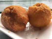 Andagi, Okinawa Donuts em Kekaha na ilha de Kauai, Havaí imagens de stock