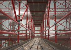 andaime 3D vermelho do interior Foto de Stock