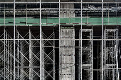 Andaime da construção do arranha-céus Fotografia de Stock