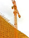 Andaime de bambu no canteiro de obras Imagens de Stock Royalty Free