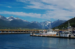 Andalsnes Harbour (Norway) Royalty Free Stock Photography
