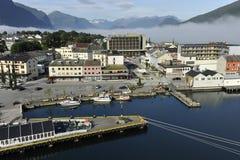 Andalsnes, Noorwegen stock afbeelding