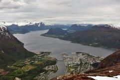 Andalsnes Norge arkivbild