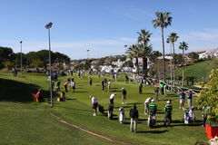 andalucia高尔夫球marbella开放球员 图库摄影