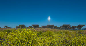 ANDALUCIA, SPAIN - April, 24: Gemasolar power station on April, Royalty Free Stock Photography