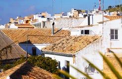 andalucian镇住宅区看法  免版税图库摄影