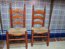 Andalucian Chairs Royalty Free Stock Image