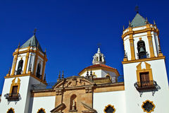 Andalucian church. A church in the center of Ronda puebla blanca in Andalucia, Spain Stock Photography
