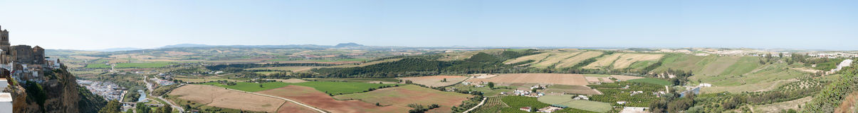 Andalucian landscape - panorama Stock Photography