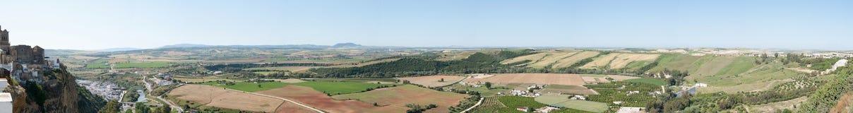 andalucian liggandepanorama Arkivbild