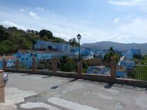Andaluciandorp van Juzcar Stock Afbeeldingen