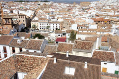Andalusia. Antequera in Andalusia region of Spain. Aerial view of typical Spanish town Stock Photography