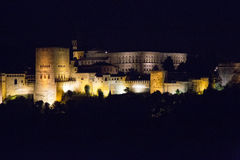 Andalusia, Alhambra at night Royalty Free Stock Photo