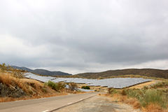 andalusia blisko nijar panel słoneczny spanish obraz royalty free