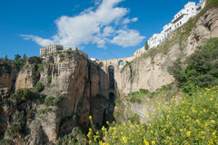 andalusia bro ronda spain Fotografering för Bildbyråer